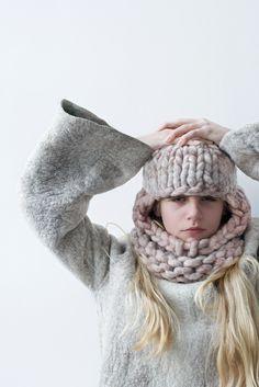 knit balaclava - loopy mango yarn - LOVE this yarn