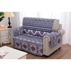 Greenland Home Fashions Medina Furniture Pet Protector Couch And Loveseat, Armchair Slipcover, Loveseat Slipcovers, Furniture Slipcovers, Furniture Covers, Space Furniture, Home Furniture, Box Cushion, Couch Covers