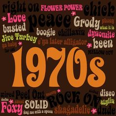 70's slogans and graphics.