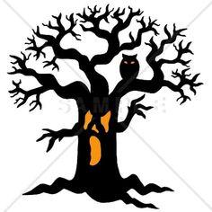 how to draw a spooky cat how to draw a spooky tree step by step rh pinterest com Spooky Tree Sketch Scary Tree Clip Art