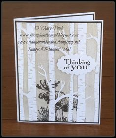 Stampin' in the Sand: Card: Moose in the Trees. Stampin Up Wilderness Awaits stamp set. sympathy card.