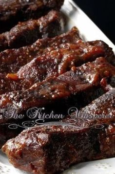 Slow Baked Boneless Beef Short Ribs Recipe Truly the best way to make boneless, fork-tender, fall-apart beef short ribs. These will melt in your mouth with a luscious gravy that just begs for creamy mashed potatoes! Rib Recipes, Slow Cooker Recipes, Cooking Recipes, Recipes Dinner, Sirloin Recipes, Recipies, Gourmet Recipes, Kabob Recipes, Fondue Recipes