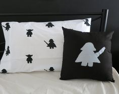 Super cute 'The Force' hand printed pillowcase from Alijoy Kids. Wonder Twins, Bed Pillows, Cushions, Best Superhero, Pillow Cases, Great Gifts, Bedroom Ideas, Prints, Bedding