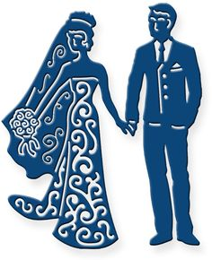 Tattered Lace Dies - Bride and Groom