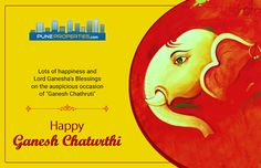 "Pune Properties Wishing you all Lots of happiness and Lord Ganesha's Blessings on the auspicious occasion of ""Ganesh Chaturthi""!! #PuneProperties #HappyGaneshChaturthi"