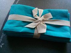 tovaglioli in cotone turchesi- n.4