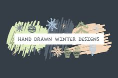 Hand drawn holiday designs
