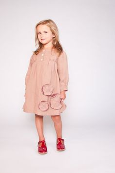 https://www.cityblis.com/7677/item/12419 | Clara Dress size XS to S - $125 by Little Mizzi | Linen dress with hand embroidered flowers,  hand seamed and smoked details.   Hand crafted with love and happiness!  100 % Linen  Tulle  | #Dresses