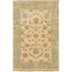 @Overstock - Hand knotted in 100% New Zealand hard twist wool, this rug features a traditional design with hard twist texture and a plush pile. Colors of off white, ice blue, rust, gold, green, beige, blue, sage, and ivory accent this area rug.http://www.overstock.com/Home-Garden/Hand-Knotted-Ruby-New-Zealand-Hard-Twist-Wool-Rug-56-x-86/6341705/product.html?CID=214117 $1,599.99