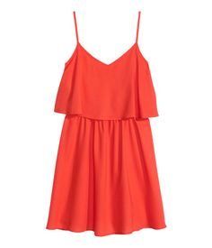 Sleeveless Dress   Coral red   Ladies   H&M US