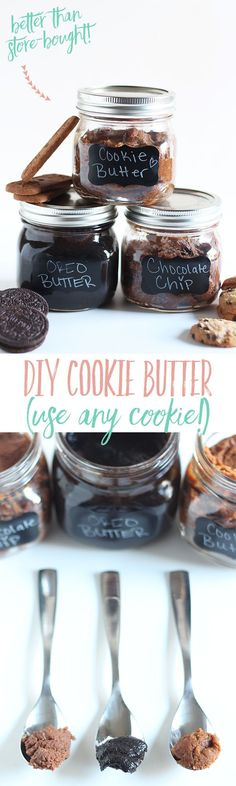 Make DIY Cookie Butter in 10 min using ANY cookie! Even better than store-bought!
