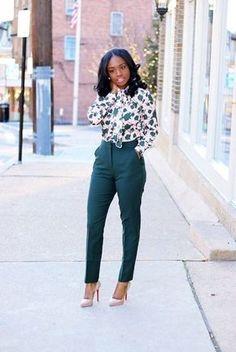 Green Floral #WearToWork #shopthelook #SpringStyle #stancilliving