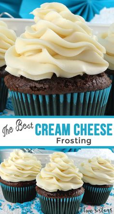 The Best Cream Cheese Frosting is the perfect version of this classic frosting It is super delicious and so easy to make Sweet creamy and so very yummy your family will b. Cream Cheese Buttercream Frosting, Icing Frosting, Frosting Recipes, Cupcake Recipes, Baking Recipes, Cupcake Cakes, Dessert Recipes, Chocolate Cream Cheese Frosting, Recipe For Cream Cheese Frosting For Carrot Cake
