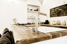 wood Kitchenette and Cea taps