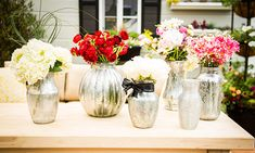 Home  Family - Tips  Products - Cristina Crafts: Faux Mercury Glass Vases | Hallmark Channel