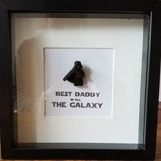 Star Wars//Handmade to order//Darth Vader//Minifigures//Gift//Shadow Box Frame//Keep Sake//Personalise//Geek//Love//Fathter//Daddy Great Father, Gifts For Father, Diy Father's Day Gifts Easy, Lego Frame, Scrabble Art, Lego Pictures, Good Daddy, Shadow Box Frames, Presents For Dad