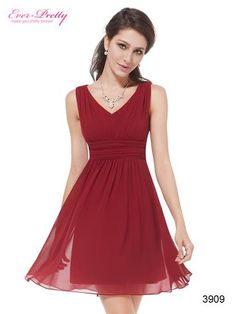 Bridesmaid Dress Option HE03909RD-L1