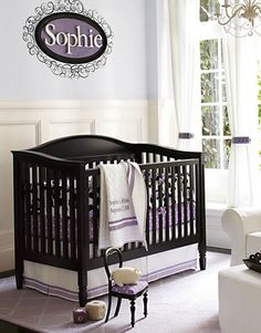 Lavender and black themed girl nursery black lavender nursery baby room ideas baby room baby rooms baby room idea baby room photos baby room pictures baby room idea pictures baby room idea photos