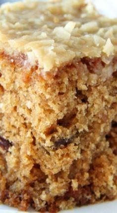 Raisin Oatmeal Sheet Cake