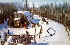 huron indian homes | Huron Indian Village Midland Winter Scene Canada Misc. Canada