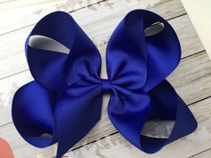 This item is unavailable Royal Blue Hair, Blue Hair Bows, Large Hair Bows, Girl Hair Bows, Big Bows, Retro Hairstyles, Girl Hairstyles, School Hair Bows, Back To School Hairstyles