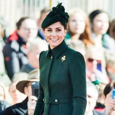 Kate Middleton Stepped Out in a Chic Alexander McQueen Coat Dress for the Irish Guards St Patrick's Day Parade Kate Middleton News, Kate Middleton Style, Duke And Duchess, Duchess Of Cambridge, Duchess Kate, Princesa Anne, Cartier, St. Patrick's Day, St Patricks Day Parade