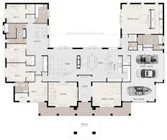 U-shaped 5 bedroom family home
