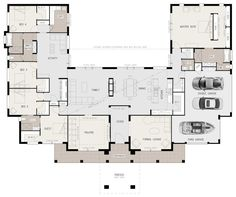 U-shaped 5 bedroom family home