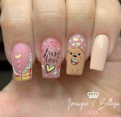Nail Polishes, Nail Art, Angel, Instagram, Sour Cream, Frases, Short Nail Manicure, Nail Manicure, Kawaii Nails