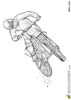 Style and crosses on pinterest - Dessin moto ktm a colorier ...