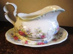 Royal Albert Colleen Gravy Boat & Tray China 1st Quality VGC #GravyBoats