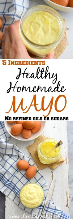 Healthy homemade Mayonnaise. Using only 5 ingredients, refined sugar, oil and vinegar free. Fits a Candida Diet, #healthy, #cadidadiet, #candida, #sugarfree, #homemade