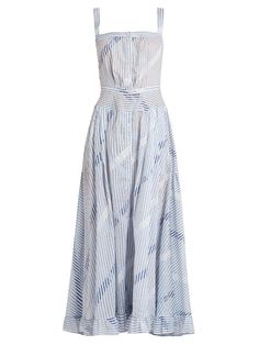 7731f629672f Thierry Colson Rosanna striped cotton-voile dress Kjole Nederdel