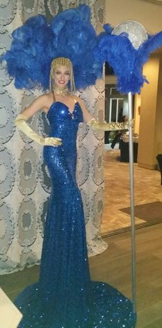 You can't miss this beauty!  12 feet of Showgirl!  Towering Las Vegas Showgirl. Premier Showgirls.