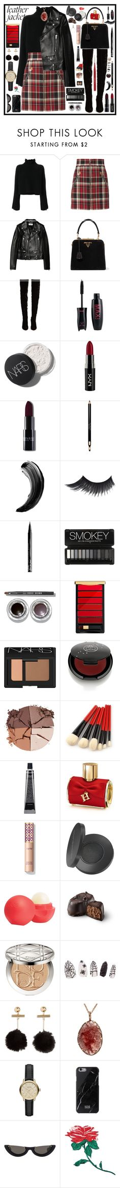 """""""127"""" by dukuwww ❤ liked on Polyvore featuring Golden Goose, rag & bone, Yves Saint Laurent, Prada, Christian Louboutin, NYX, Clarins, Bobbi Brown Cosmetics, L'Oréal Paris and NARS Cosmetics"""