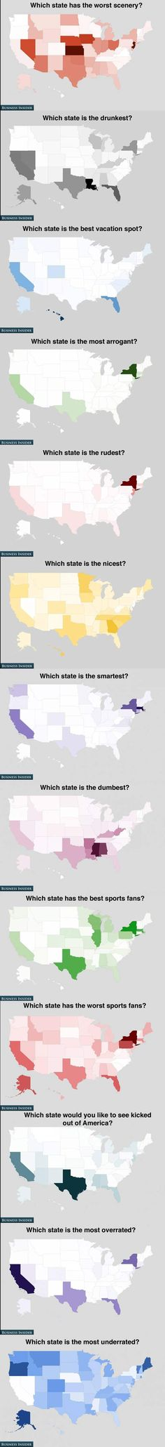 How Americans feel about the states…either people know very little about New Hampshire or we are a very boring state to them! Always white in these maps?!