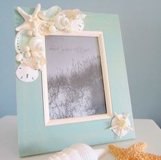 seashell crafts | Seashell Frame, Sea & Beach Craft | Craft Ideas