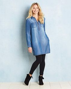 939be02fa4e 95 Best Denim Tunic images in 2019 | Sewing clothes, Shell tops ...