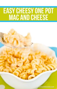 ... One Pot Mac And Cheese. As quick and easy as making it from a box mix