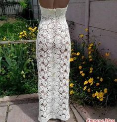Crochet Wedding Dress Pattern, Crochet Wedding Dresses, Wedding Dress Patterns, Crochet Dresses, Crochet Jumper, Crochet Cardigan, Irish Crochet, Knit Crochet, Diy Crafts Dress