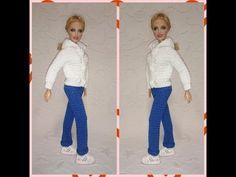 Штанишки - брюки на куклу крючком - YouTube