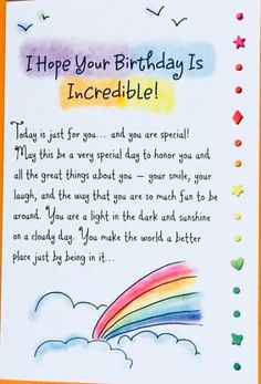 Hope Your Birthday Is Incredible! Birthday Greeting Card, bday card, special birthday, friend, Ashle Happy Birthday Wishes Birthday Wishes For A Friend Messages, Happy Birthday Best Friend Quotes, Happy Birthday Wishes Cards, Messages For Friends, Birthday Cards For Friends, Happy Birthday Special Friend, Birthday Quotes For Sister, Card Birthday, Happy Birthday For Him