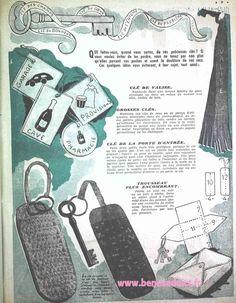 GRATUIT! 35 Patrons Couture Vintage 1950! Vêtements Sacs et Accessoires! Crochet Vintage, Vintage Knitting, Vintage Sewing Patterns, Crochet Stitches, Knit Crochet, Sewing Hacks, Sewing Ideas, Mode Vintage, Bag Making