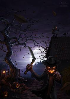 Spooky looking Halloween pumpkin. Retro Halloween, Spooky Halloween, Halloween Kunst, Halloween Artwork, Halloween Pictures, Halloween Wallpaper, Spirit Halloween, Holidays Halloween, Halloween Themes