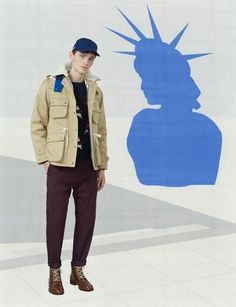 View the full Maison Kitsuné Fall 2017 menswear collection.