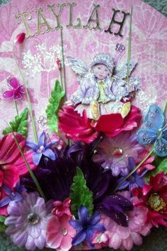 Pic 2 of 2 How sweet is this beautiful little fairy? She has been hand cut and layered by myself. You can also see some of the sparkle