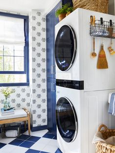 Wall Design, House Design, Small Laundry Rooms, Laundry Closet, Colonial Style Homes, Home Collections, Small Spaces, Room Ideas, Decorating Ideas