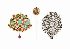 Three jewelled ornaments India, 19th and early 20th century #christiesjewels