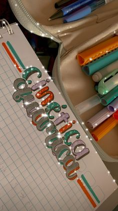 Bullet Journal Lettering Ideas, Bullet Journal Banner, Bullet Journal Writing, Bullet Journal School, Bullet Journal Ideas Pages, Bullet Journal Inspiration, Cute Notes, Pretty Notes, School Notebooks
