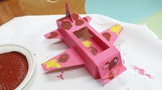 우유팩(또는 종이상자)으로 장난감 비행기 만들기